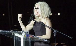 Lady Gaga le 29 juin 2013 à New York pour le lancement de la Gay Pride