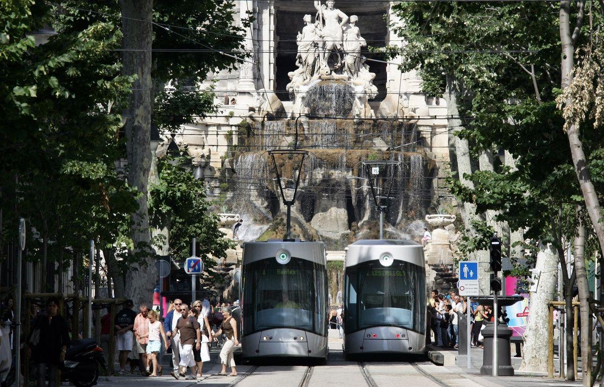 Deux tramways à Marseille. – ANNE-CHRISTINE POUJOULAT / AFP