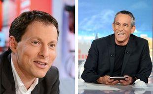 Les animateurs télé Marc-Olivier Fogiel, à gauche, et Thierry Ardisson, à droite.