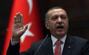 Recep Tayyip Erdogan devant le Parlement turc, à Ankara, le 26 juin 2012.
