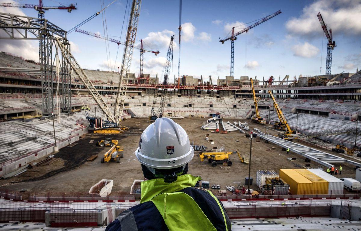 Lyon, le 9 décembre 2014. Vue du chantier du Stade des Lumières, futur antre de l'Olympique Lyonnais. – Jeff Pachoud/ AFP