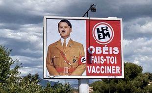 Le panneau publicitaire de Michel-Ange Flori.