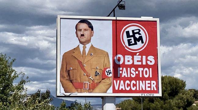 Var : Emmanuel Macron et LREM ont déposé plainte contre le publicitaire qui a grimé le président en Hitler