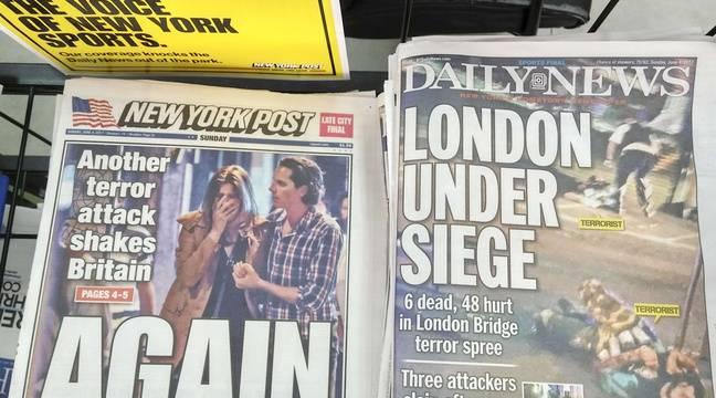 La Une des tabloïds New-Yorkais le 4 juin 2017, après l'attentat  perpétré à Londres. – Richard B. Levine/NEWSCOM/SIPA
