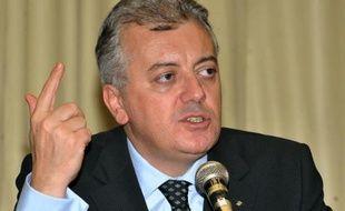Le président de Banco do Brasil Aldemir Bendine, le 24 mars 2010, lors d'une réunion à Brasilia