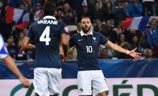 Karim Benzema lors de France-Arménie en octobre 2015, sa dernière apparition sous le maillot bleu.