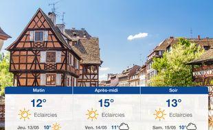 Météo Strasbourg: Prévisions du mercredi 12 mai 2021