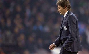 Antonio Conte après la défaite contre Naples en Serie A, le 30 mars 2014.