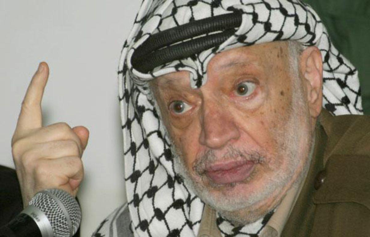 Le président palestinien, Yasser Arafat, le 14 juillet 2004, à Ramallah. – L.A.HAYKEL / REUTERS