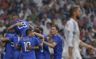 Les joueurs de la Juventus célèbrent face au Real Madrid, le 13 mai 2015