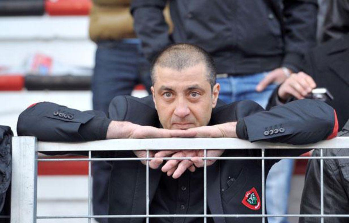 Mourad Boudjelllal forcé de regarder les matchs du RCT dans les tribunes, le 28 janvier 2012 lors du match de Top 14 contre Bayonne. – GERARD JULIEN / AFP