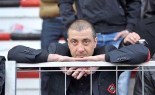 Mourad Boudjelllal forcé de regarder les matchs du RCT dans les tribunes, le 28 janvier 2012 lors du match de Top 14 contre Bayonne.