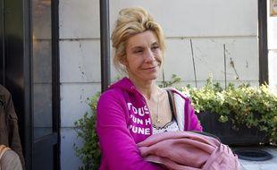 Paris le 23 avril 2013.  Frigide Barjot ancienne chef de file du mouvement la manif pour tous».