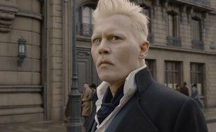 Johnny Depp dans « Les Animaux fantastiques : Les Crimes de Grindelwald »