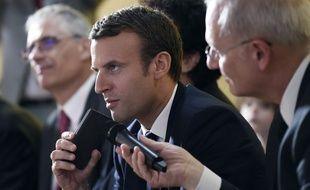 Emmanuel Macron au Centre national d'études spatiales le 2 juin 2017.