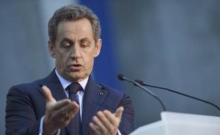 Nicolas Sarkozy en meeting à Boulogne-Billancourt le 25 novembre 2014.