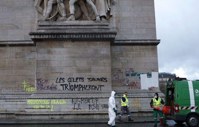 L'Arc de Triomphe a été saccagée samedi 1er décembre lors du troisième rassemblement des «gilets jaunes» à Paris.