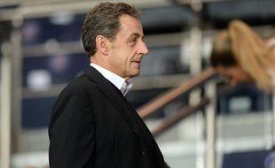 Nicolas Sarkozy au Parc des princes le 30 septembre.