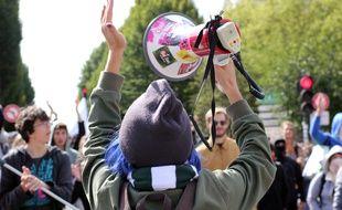 La manifestation contre les ordonnances Macron sur le Code du travail du 12 septembre à Rennes.