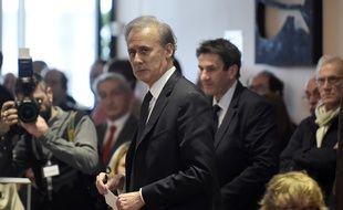 Georges Tron, accusé de viol, devant la cour d'assises de Seine-Saint-Denis en décembre 2017.