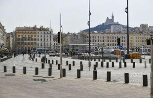 Le Vieux port, à Marseille, le 22 mars 2020.