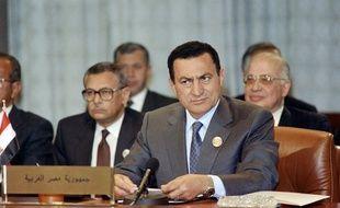 L'ancien président égyptien Hosni Mubarak le 24 février 1990 à Amman, en Jordanie.