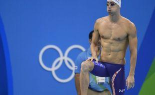 Michael Phelps dans son maillot de bain le 8 août 2016 à Rio.