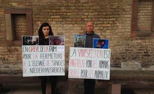 Pamela Hamdi et Christophe Lepretre, deux grévistes de la faim à Strasbourg.