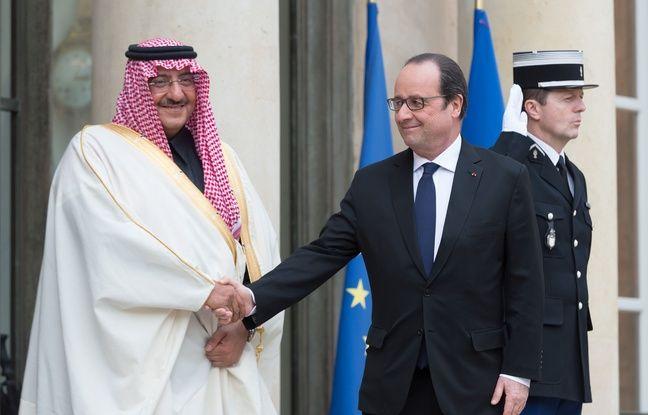 Prince Mohammed bin Nayef et and Francois Hollande à l'Elysée, le 04/03/2016. WITT/SIPA/1603041617