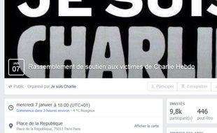 Appel au rassemblement ce mercredi en soutien à Charlie Hebdo.