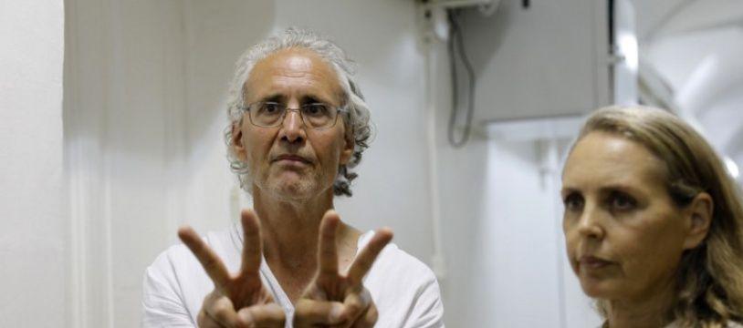 Frank Romano, menotté à Jérusalem, le 16 septembre 2018.