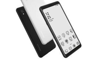 Un smartphone à l'écran uniquement noir et blanc
