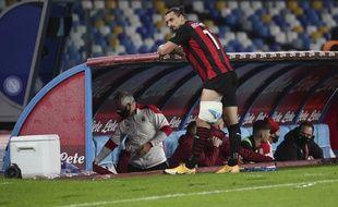 Ibrahimovic s'est blessé dimanche à Naples