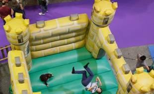 Illustration d'un parc de loisirs pour enfants
