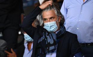 Vincent Labrune, le nouveau président de la Ligue de football professionnel, lors du match PSG-OM le 13 septembre 2020.
