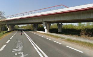 Pont sur la RD 2089 en Gironde