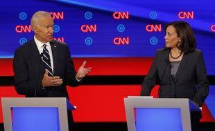Joe Biden et Kamala Harris lors d'un débat en juillet 2019.