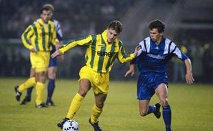L'attaquant Nicolas Ouédec en octobre 1994.