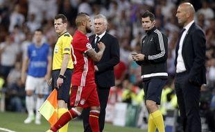 Carlo Ancelotti lors de Real-Bayern