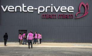 Un entrepôt du site à Montagny-lès-Beaune, le 17 avril 2015.