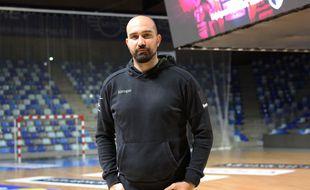 Igor Anic, capitaine du Cesson Rennes Métropole Handball, ici dans la Glaz Arena en novembre 2020.