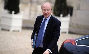 Le ministre de l'Intérieur et de l'Immigration Brice Hortefeux à l'Elysée, le 17 novembre 2010