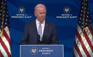Joe Biden le 6 janvier 2021.