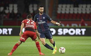 Javier Pastore lors du match entre le PSG et Dijon le 20 septembre 2016.