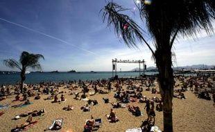 Cannes sur la plage, jeudi 17 mai 2007.