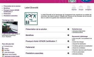 L'Afnor Certification est l'organisme choisi par l'Etat pour attribuer le label diversité aux entreprises.