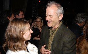 Sofia Coppola et Bill Murray en 2004, au Gramercy Theater à New York, un an après Lost in Translation