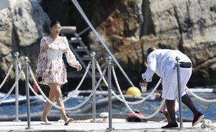 Kylie Jenner en vacances à Antibes.