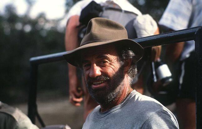 Belmondo sur le tournage du film Itinéraire d'un enfant gâté