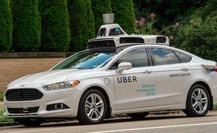 Un véhicule autonome d'Uber testé à Pittsburgh, aux Etats-Unis.